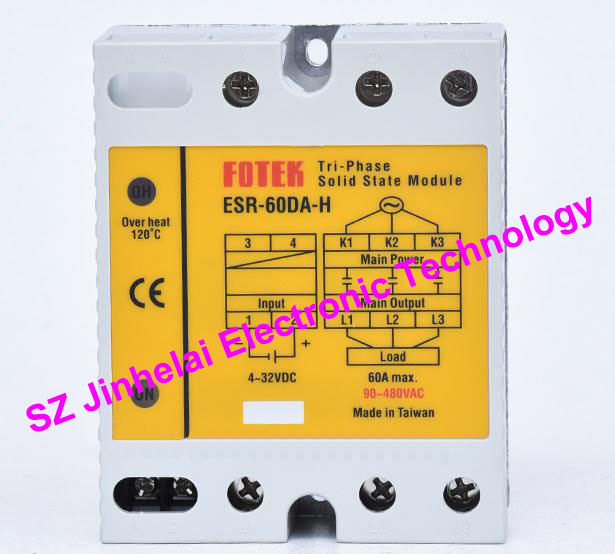 ESR-60DA-H New and original FOTEK 3-Phase Solid state module 60A esr 60da new and original fotek ssr solid state module 3 phase solid state relay