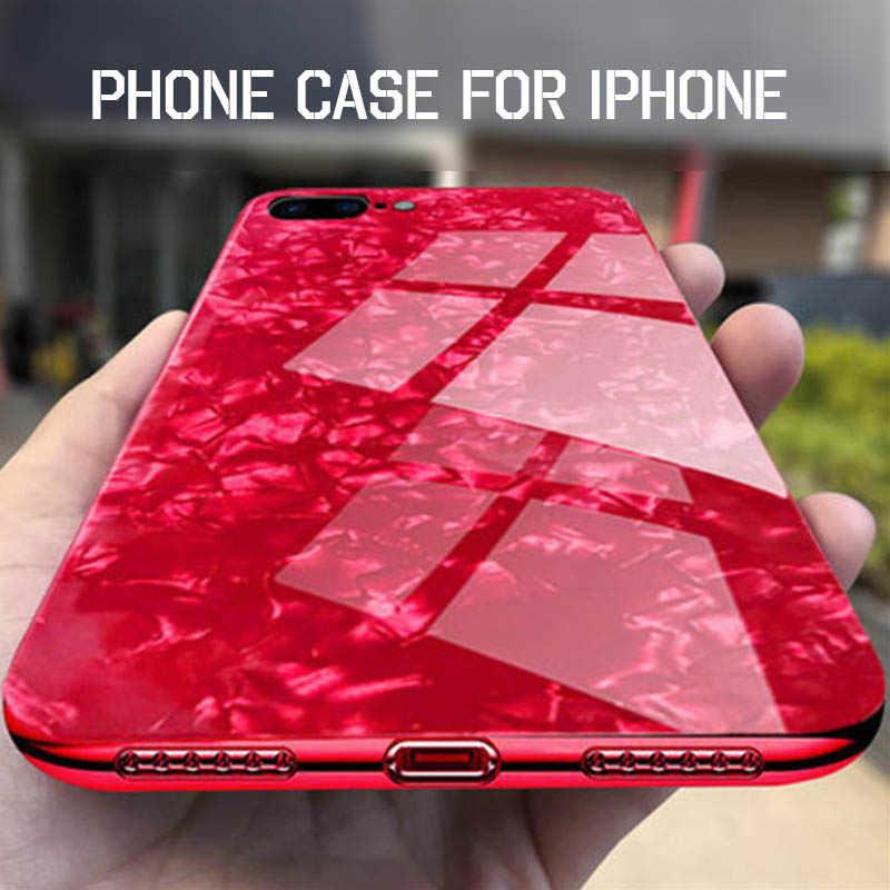Vidro temperado concha caso de telefone para iphone x xs max 11 pro max xr 8 7 6s plus capa para apple i telefone 8plus 11 promax 10 s 10r funda coque