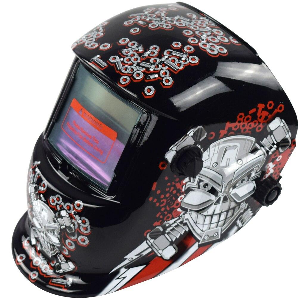 Сварочный шлем Автоматическая Замена Сварочная маска на голову сварочный аппарат Сварочная маска WN 107 Mechanical голова черепа - 2
