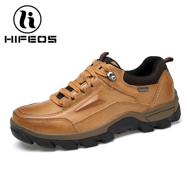 Men's Winter Anti-slip Hiking Shoes Waterproof Outdoor Breathable Shoes 38-44 ( Color : Brown  Size : 43 )