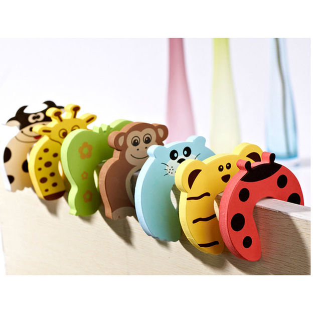 5pc/lot Animal Jammer Baby Kid Children Safety Care Protection Silicone Gates Doorways Decorative Magnetic Door Stopper Gates 3