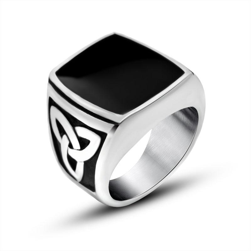 2016 Vintage Retro Jewelry Silver Thumb Rings For Men Titanium ...