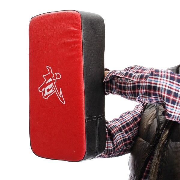 1 stücke red boxing pads Thai Kick Boxing Schlag Curve Pads Muay Arm Schlag MMA Für Boxen Taekwondo Fuß Ziel