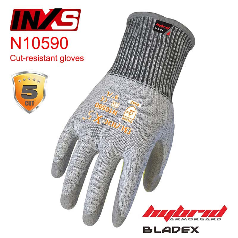 SAFETY-INXS N10590 BladeX5 anti cut gloves blade gear operating protection gloves High sensitivity coating Cut-resistant gloves
