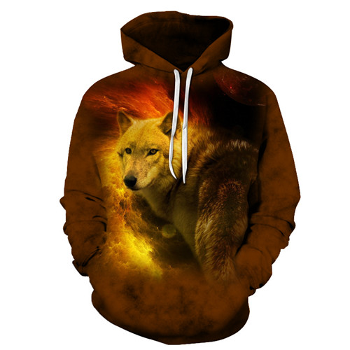 Orange Cat Unisex Hoodie 3D Print Sweatshirts Pullover Harajuku Mens Animal Hoody