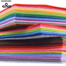 Non Woven Fabric Mix Thickness 1mm 2mm 3mm Polyester Felt Of Home Decoration Pattern Bundle For Sewing Dolls Crafts 62pcs30x30cm