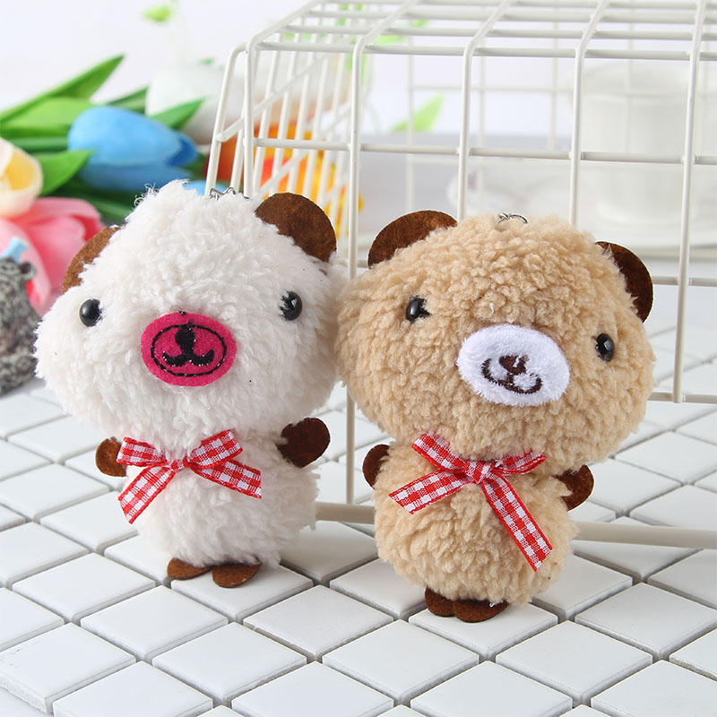 Novelty Infant Wind Chime Bed Hanging Bell Appease Doll Key Holder Ring Accessary Lovely Plush Bear Teether Mobile Rattle Toys