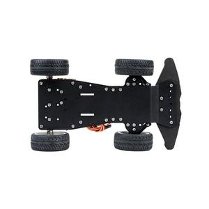Image 3 - Elecrow 4WD Chassis Smart Car for Arduino Car Platform with Metal Servo Bearing Kit Steering Gear Control DIY 4 Wheel Robot Car