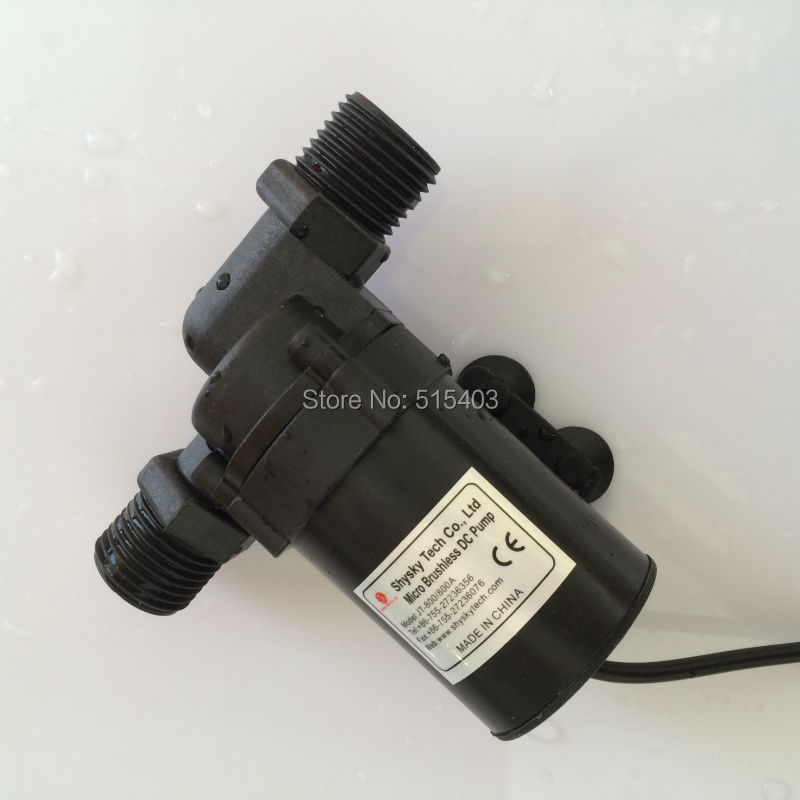 2pcs/Lot Micro Brushless Pump Solar Power DC Pump Centrifugal Water Pump 800/800A-G, 24V 1200LPH 5.5M for hot water, Submersible