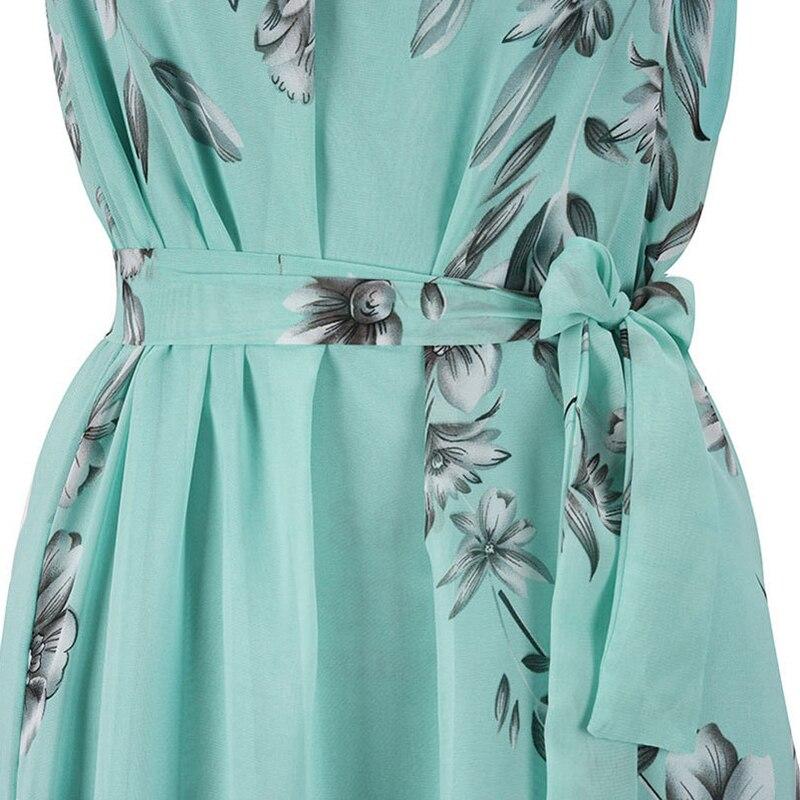 2018 Fashion Summer Women Elegant Boho Long Maxi Dress Charming O-Neck Chiffon Lady Evening Party beach Dress Plus Size S-6XL 4