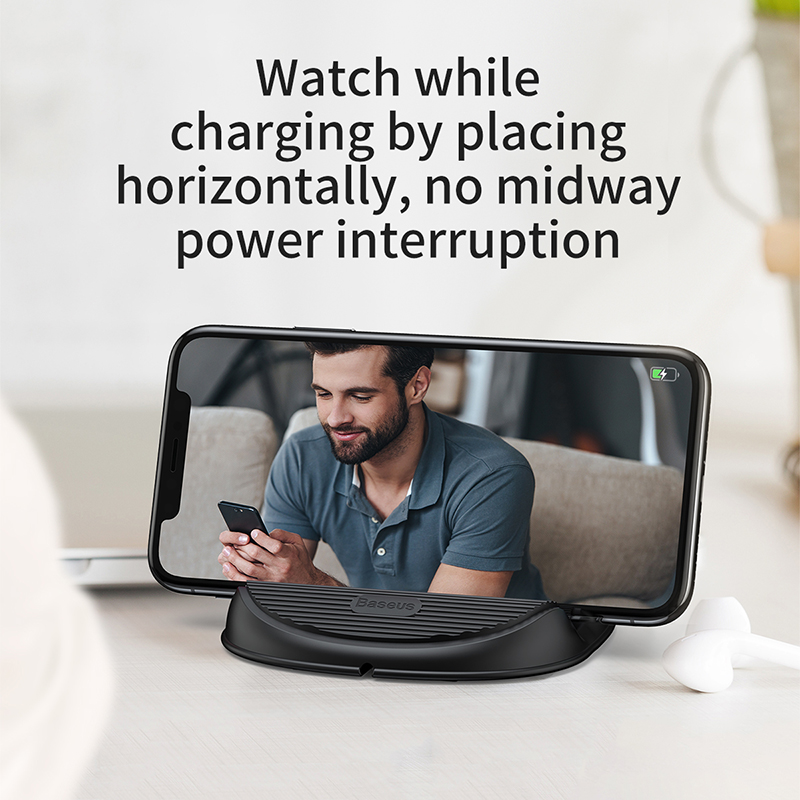 Wireless Charger 10W - QC 3.0 Fast Charging Desktop Stand with Heat Dispension Fan 2