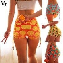 Womail шорты женские короткие летние модные повседневные женские летние шорты с фруктовым принтом мягкая облегающая фитнес шорты Jun12