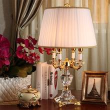 Mode ofhead k9 crystal tafellamp luxe hoge kwaliteit crystal tafellamp voor slaapkamer lobby tafellamp abajur de mesa lamparas