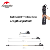 NatureHike Folding Collapsible Alpenstocks Ultralight Walking Sticks Mountaineering Hiking Canes Trekking Walking Trail Poles