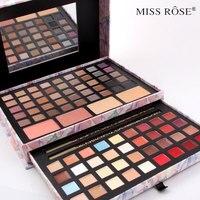 Make kit bloem Up set 45 Kleuren Matte Oogschaduw Palet 16 kleuren matte lippenstift + blusher + concealer Miss Rose Merk