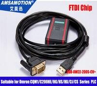 Geïsoleerd USB-XW2Z-200S-CV + geschikt Omron CQM1/C200HE/HG HS/HX/CJ/CS Serie PLC