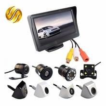 """2In1 система парковки Kit 4.3 """"TFT ЖК-дисплей Цвет монитор HD Экран дисплея + заднего вида Камера Водонепроницаемый резервного копирования"""