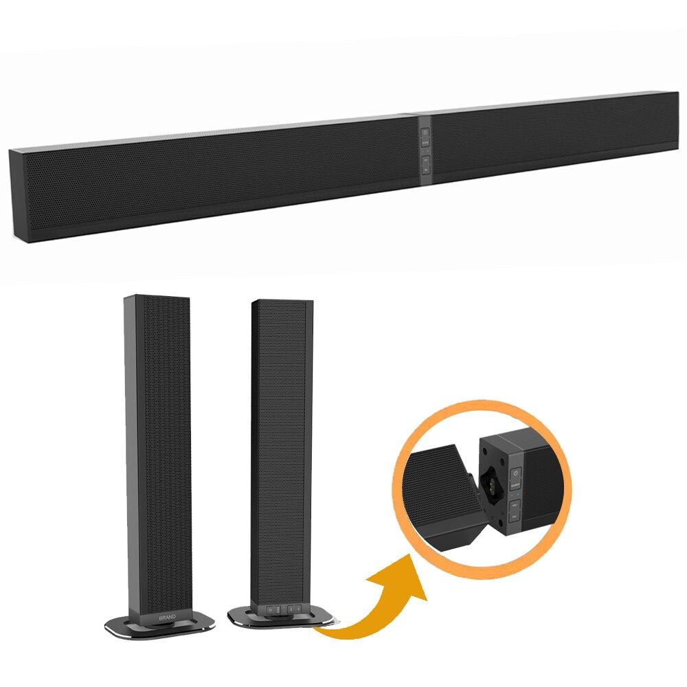 Съемный тонкий Bluetooth Саундбар Динамик, 40 Вт ТВ Sound Bar Динамик с HD ARC/Bluetooth/Opticcal/коаксиальный/USB/AUX входы