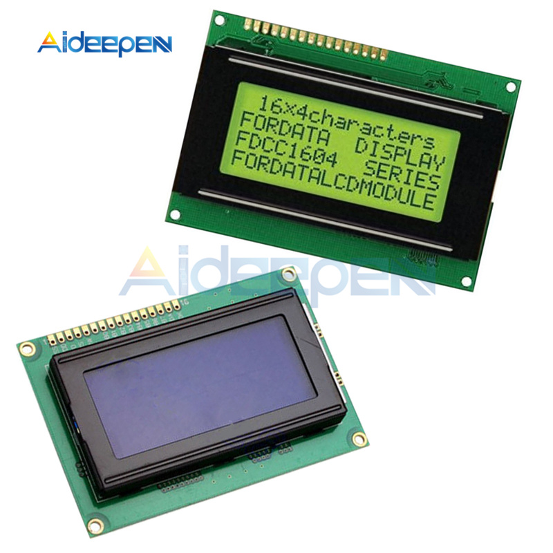 16x4 16*4 <font><b>1604</b></font> Character <font><b>LCD</b></font> Screen Display Module LCM Blue/Yellow Backlight 5V For Arduino image