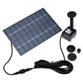 1set Professional Solar Power  Pump Fountain Solar Irrigation System Pool Water Pump Garden Plants Sun Plants Watering Pump Kit