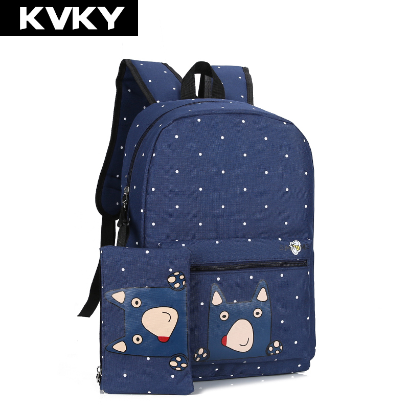 f2c2d6dbb25 Buy KVKY New Women Nylon Backpack Waterproof School Bag For ...