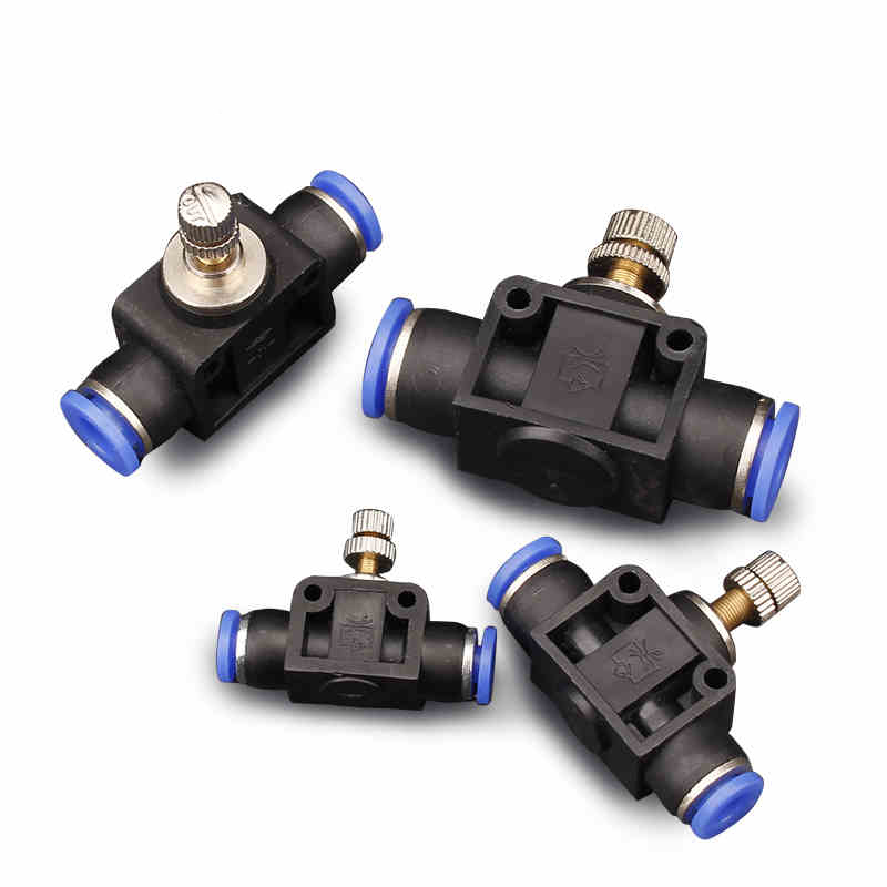 1Pcs Governor Throttle Valve Pneumatic Fittings Pneumatic Components Rapid Push Pipe Fittings PA4/PA6/PA8/PA10