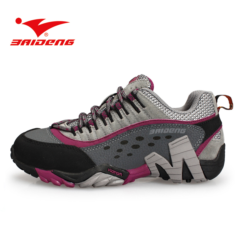 ФОТО Baideng women's Hiking Shoes outdoor athletic sport shoes sneakers women Mountain trekking climbing shoes zapatillas mujer