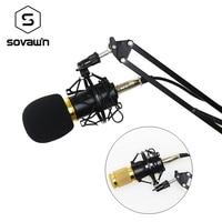 Hot BM 800 Condenser Microphone Studio Professional For Computer Bm800 Mic Stand Holder Karaoke Vocal Bm