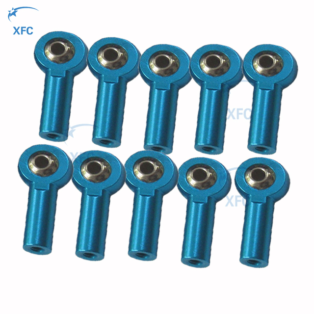 10 X Metal M3 Head Holder Link Rod End Ball Joint Thread For 1/10 RC Racing Car Crawler