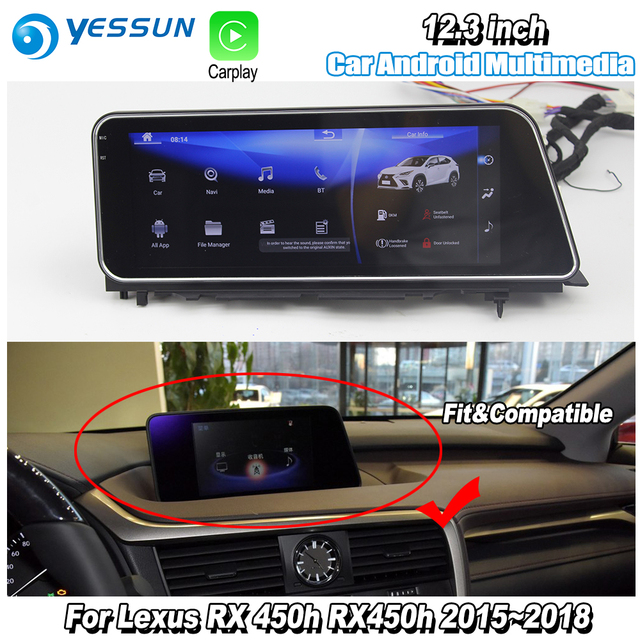 """yessun 12.3"""" for lexus rx 450h rx450h 2015~2018 car android carplay"""