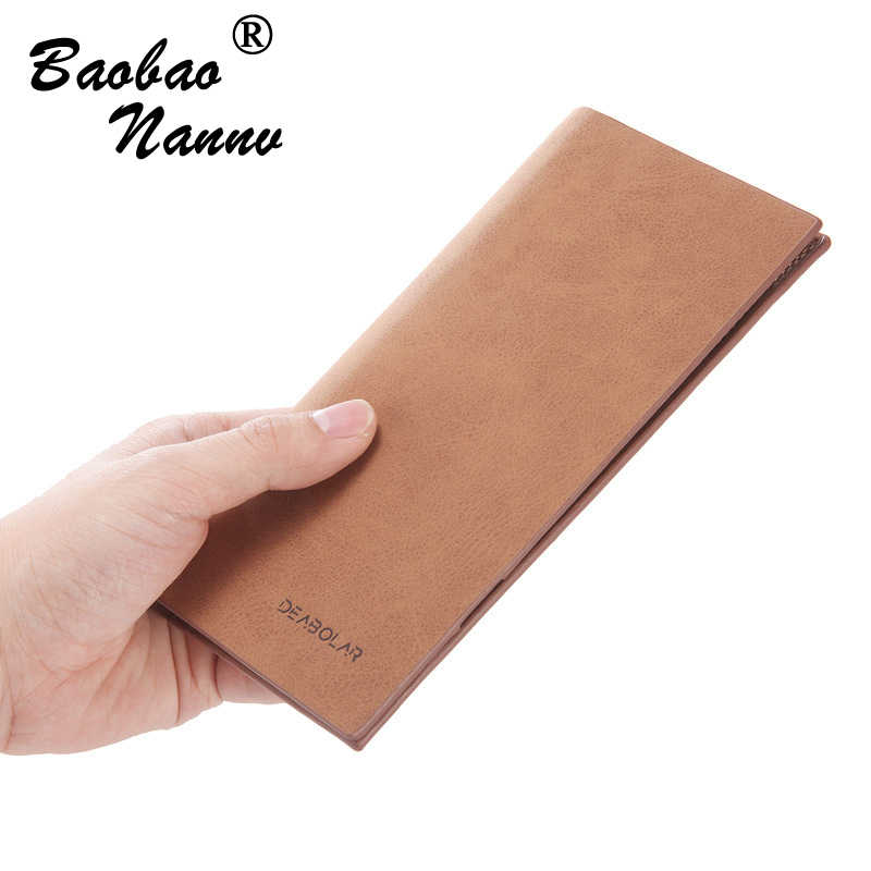 Super Thin Wallet Business Men Wallets Long Male Clutch Leather Purse Men Women Money Multi Card Holders Bag High Quality