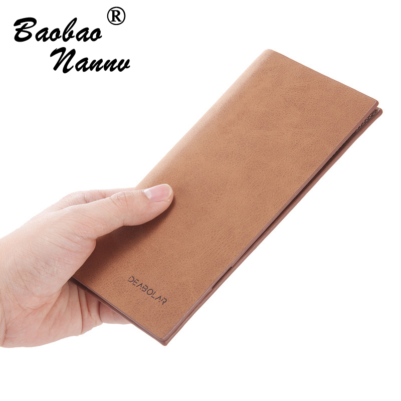 Super Thin Wallet Business Men Wallets Long Male Clutch Leather Purse Men Women Money Multi Card Holders Bag High Quality