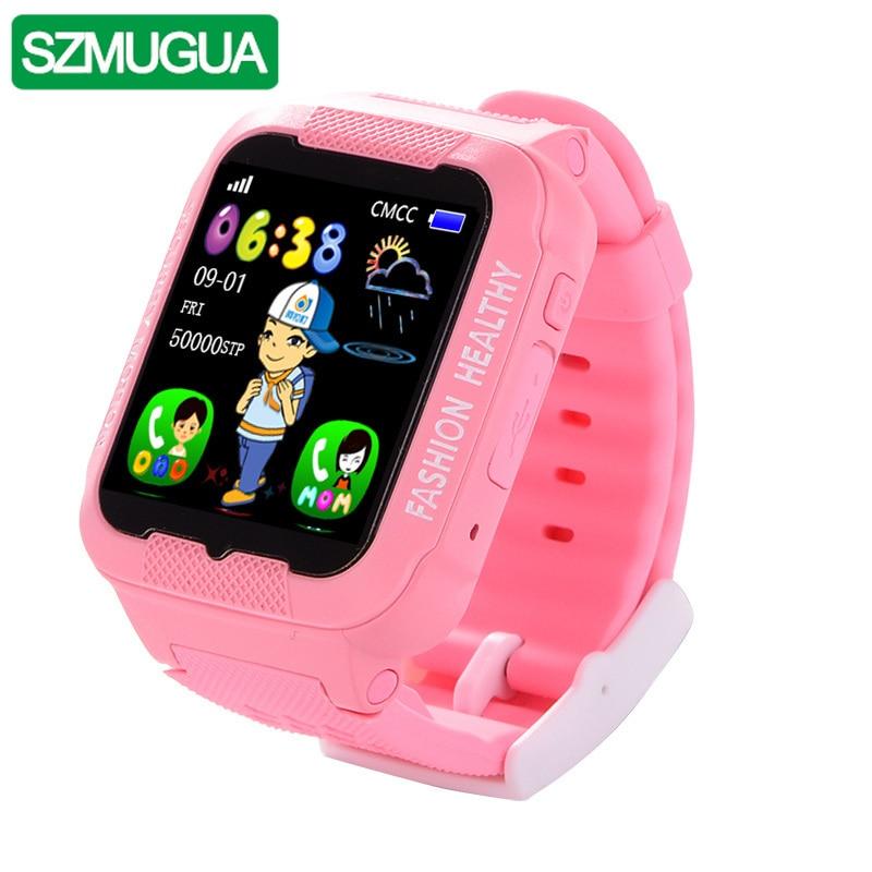 SZMUGUA K3 enfants Bluetooth montre intelligente étanche bébé coffre-fort enfants regarder GPS avec SIM TF localisation dispositif Tracker avec caméra - 2