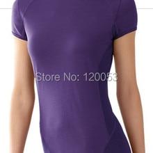 Прямая поставка с фабрики австралийская мериносовая шерсть женская футболка с коротким рукавом, женская рубашка из мериносовой шерсти