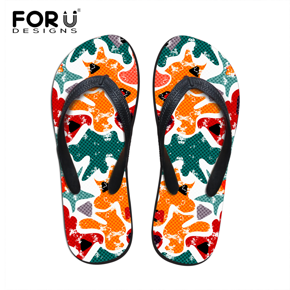 New Summer Eva Shoes Fashion Graffiti Flip Flops Men Sandals Male Flat Summer Beach Slippers Slides Size 39-44 Skilful Manufacture Shoes