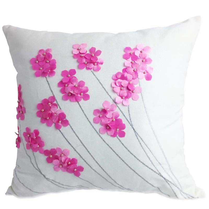Throw Pillow Cover Designs : Aliexpress.com : Buy Decorative Cotton Embroidery Cushion Cover With Beads , Home Decor Sofa Car ...