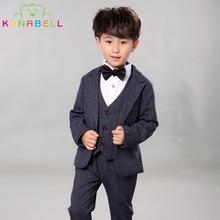 Children Performance Clothes Brand Boys Formal Suits Wedding Birthday Party Tuxedo Jacket Waistcoat Shirt Pant Kids Blazer F19