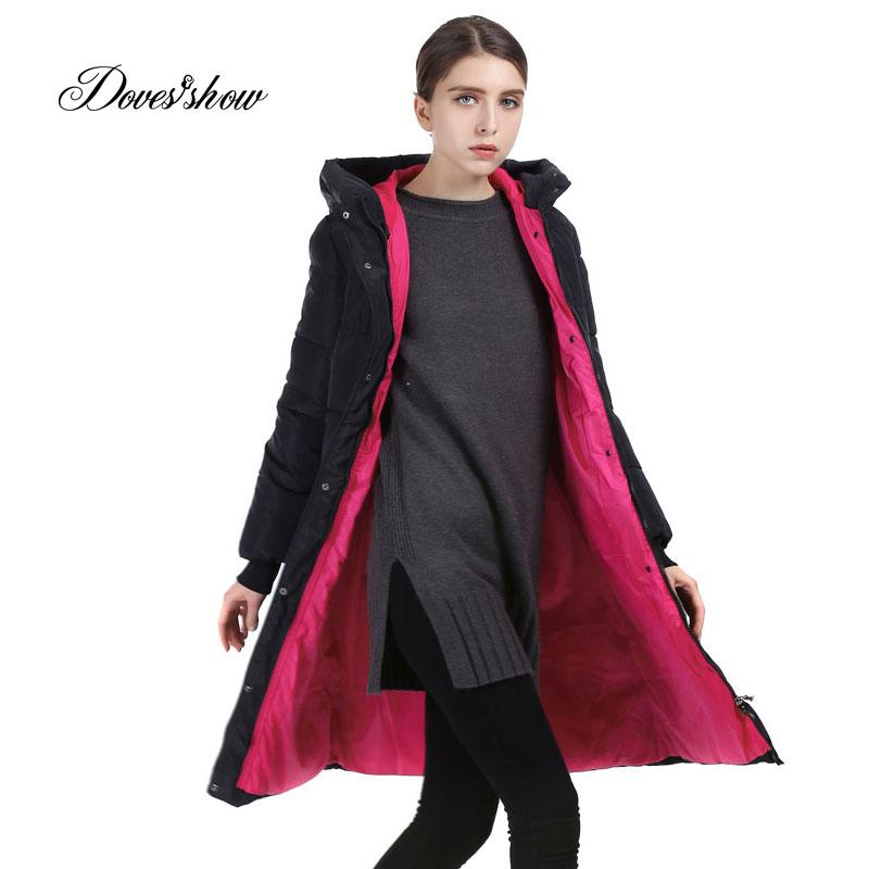 Long Women Winter Jacket Fashion Padded Coat Hooded Overcoat Plus Size Parka Wadded Military Casaco Feminino Female Jacket QYX02
