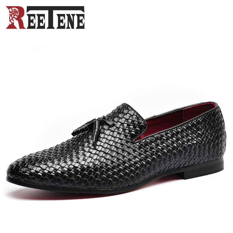 Big Size:37-48 Men PU Leather Casual Shoes Breathable Comfortable Male Slip-On Boat Shoes Luxury Mens Business Dress Shoes Black