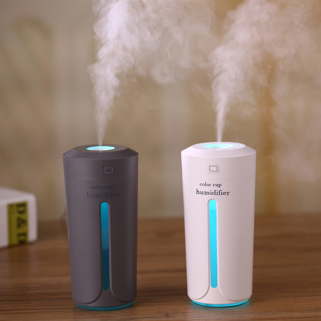 2017 Portable USB Cool Mist Humidifier Colorful LED Night Light Home Car Air Purifier Mini Humidifier for Car Home Office Baby 4