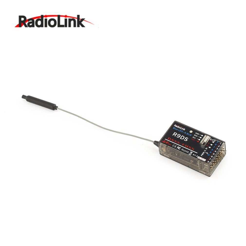 RadioLink R9DS 2.4G 9CH Receiver Compatible AT9 AT9S AT10 AT10II Transmitter RC Airplane Multirotor Support for S-BUS