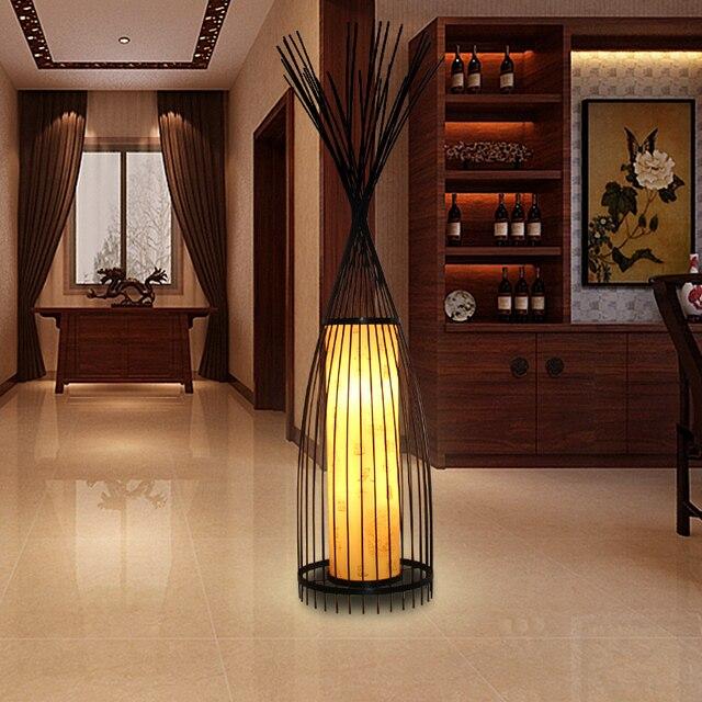 Pastoral Lamps Lighting Floor Lamps Ikea Restaurant Terrace Bamboo