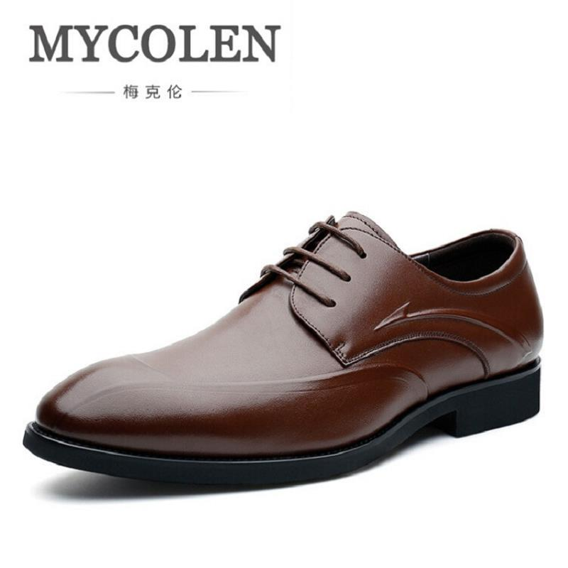 MYCOLEN 2017 New Fashion Fall Comfortable Business Derby Shoes Mens Pointed Toe Men's Dress Shoes Italian Classic Formal Shoes frank buytendijk dealing with dilemmas where business analytics fall short