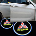 2x LED Car Door Laser Logo Welcome Light For Mitsubishi asx lancer 10 9 outlander pajero sport l200 colt carisma galant grandis