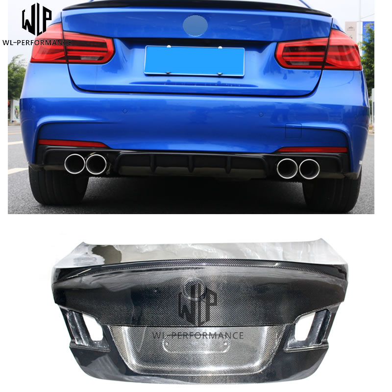 5 Series F10 F18 CLS Style Carbon Fiber Rear Trunk Lid Hood Bonnets Car Body Kit For BMW 5 Series F10 F18  2011-2017 Use