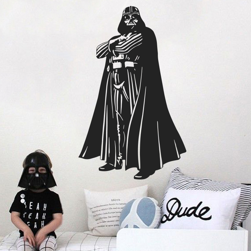 New Design War Star Movie WALL STICKER Home Decor Vinyl Darth Vader Decal DIY 3D house decoration