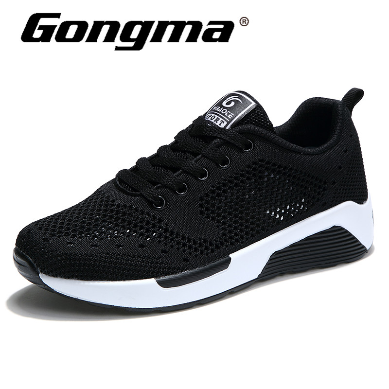 Gongma Summer Women Sneakers Women Sport Shoes Lightweight Breathable Running Shoes Damping Outsole Trainers Black Jogging