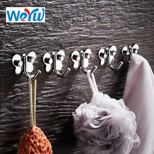 WEYUU Robe Hooks Stainless Steel Clothes Hanger Towel Coat Robe1-5 Hook Home Decorative Wall Mounted