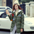 2016 Winter New Fashion Large Size Medium Long Section Slim Causal Hooded Solid Color Women Down Coat