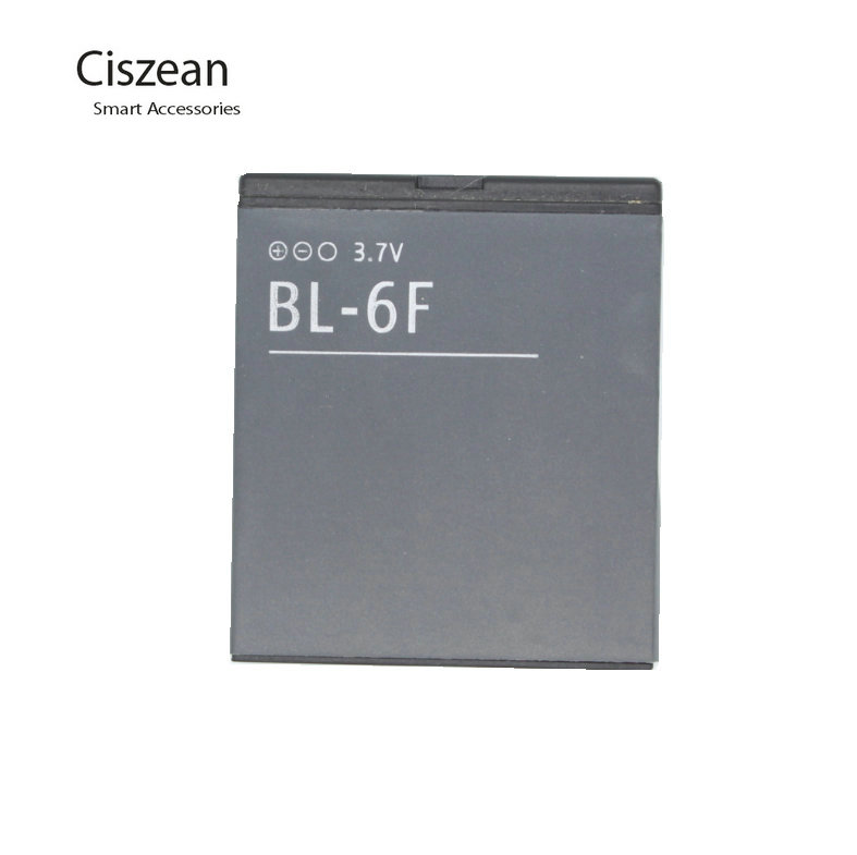 Ciszean 1x 3.7V 1200mAh BL-6F Phone Replacement Li-ion Battery for Nokia N78 N79 N95 6788 6788I BL6F batteries